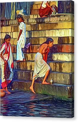 Moksha Canvas Print - Mother Ganges - Paint by Steve Harrington