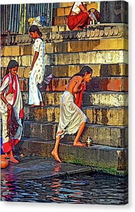 Moksha Canvas Print - Mother Ganges by Steve Harrington
