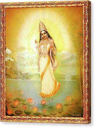 Mother Goddess Lalitha Canvas Print by Ananda Vdovic