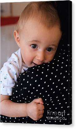 Mother Holding Baby Girl Canvas Print by Sami Sarkis