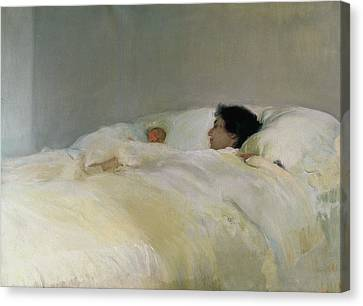 Mother Canvas Print by Joaquin Sorolla y Bastida