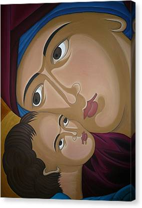 Mother-love Canvas Print by Marinella Owens