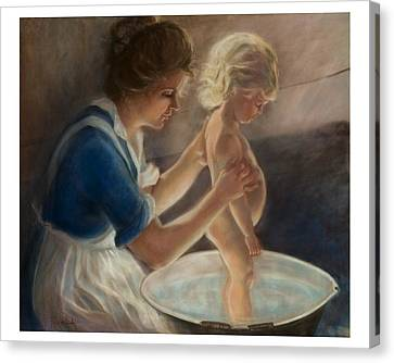 Mother Love-the Bath Canvas Print
