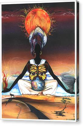 Mother Nature II Canvas Print by Anthony Burks Sr