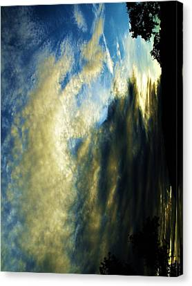 Mother Nature In Clouds Canvas Print