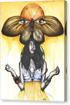 Mother Nature Ix Canvas Print by Anthony Burks Sr