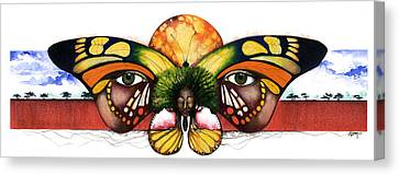 Mother Nature Vi Canvas Print by Anthony Burks Sr
