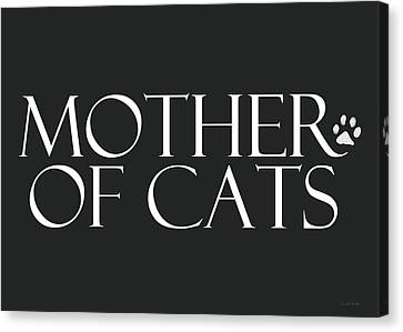 Mother Of Cats- By Linda Woods Canvas Print by Linda Woods