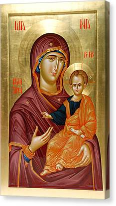 Mother Of God Canvas Print by Daniel Neculae