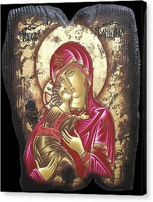 Mother Of God Canvas Print by Iosif Ioan Chezan