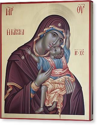 Mother Of God Kardiotisa Canvas Print by Daniel Neculae