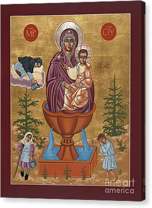 Canvas Print featuring the painting Mother Of God Life Giving Spring by William Hart McNichols