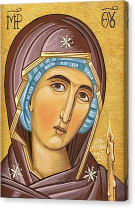 Mother Of God Canvas Print by Mariela Constantinidis