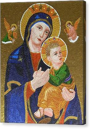 Mother Of Perpetual Help Canvas Print by Liza Wheeler