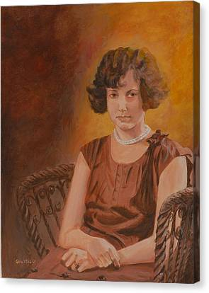 Mother Canvas Print by Quwatha Valentine