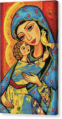 Canvas Print featuring the painting Mother Temple by Eva Campbell