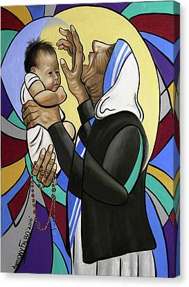 Saint Hope Canvas Print - Mother Teresa, A Prayer From The Heart by Anthony Falbo