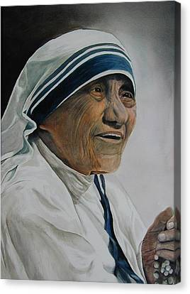 Mother Teresa Canvas Print by Dwight Williams