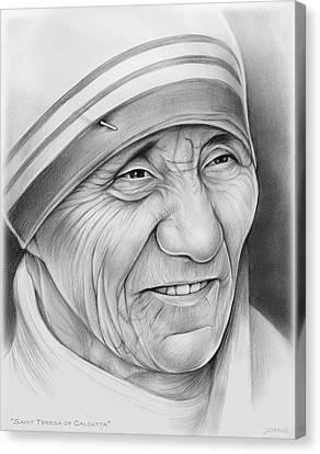 Mother Teresa Canvas Print by Greg Joens
