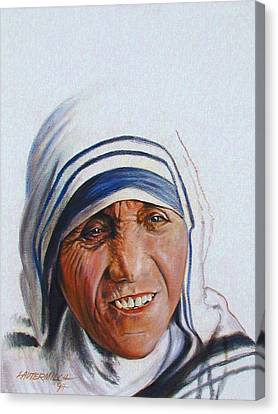 Mother Teresa Canvas Print by John Lautermilch