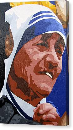 Mother Teresa Canvas Print by Roberto Valdes Sanchez