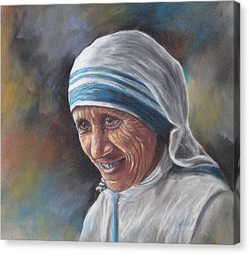 Mother Teresa Canvas Print by Sam Pearson