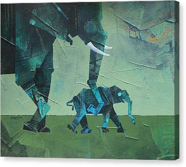 Etc. Canvas Print - Mothere And Child  by Sharath Palimar
