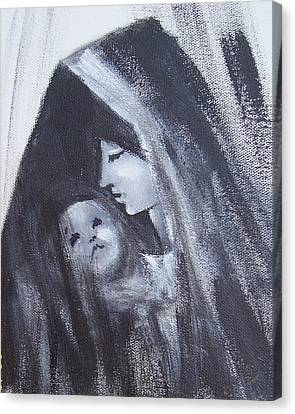 Motherly Love Canvas Print by Martha Mullins