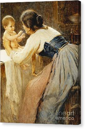 Bonding Canvas Print - Motherly Love by Publio de Tommasi