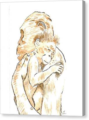 Mothers Arms Canvas Print by Warren Thompson