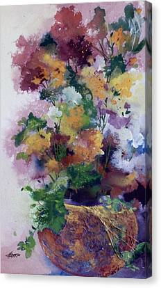 Canvas Print featuring the painting Mother's Day Floral by Helen Harris