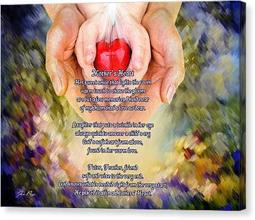 Mother's Heart Poem Canvas Print