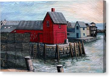 Motif No.1 Canvas Print by Eileen Patten Oliver