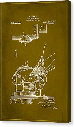 Motion Picture Machine Patent Drawing 1a Canvas Print