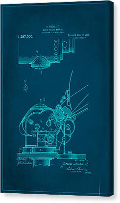 Motion Picture Machine Patent Drawing 1b Canvas Print
