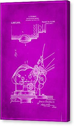 Motion Picture Machine Patent Drawing 1c Canvas Print
