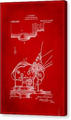 Motion Picture Machine Patent Drawing 1d Canvas Print