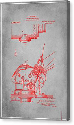 Motion Picture Machine Patent Drawing 1e Canvas Print