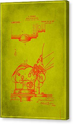 Motion Picture Machine Patent Drawing 1f Canvas Print