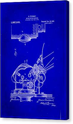 Motion Picture Machine Patent Drawing 1g Canvas Print