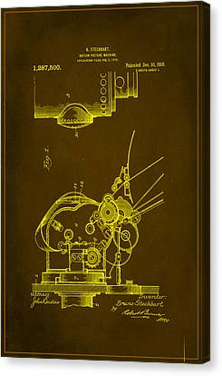 Motion Picture Machine Patent Drawing  Canvas Print