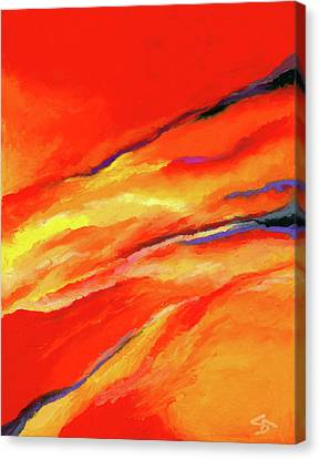 Canvas Print featuring the painting Motivation by Stephen Anderson