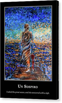 Canvas Print featuring the painting Motivational - Answers by Nik Helbig