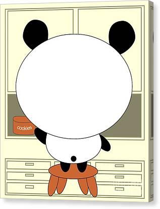 Motivational Panda Canvas Print