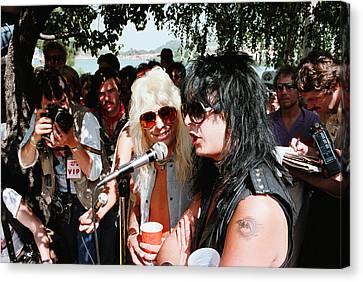 Motley Crue/ Us Festival '83 #2 Canvas Print