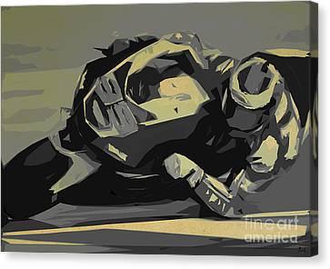 Moto Gp 99 Canvas Print by Pablo Franchi