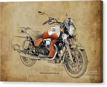 Moto Guzzi California 90 2012 Canvas Print by Pablo Franchi