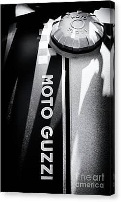 Canvas Print featuring the photograph Moto Guzzi by Tim Gainey