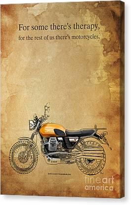 Moto Guzzi V7 Scrambler Quote Canvas Print by Pablo Franchi