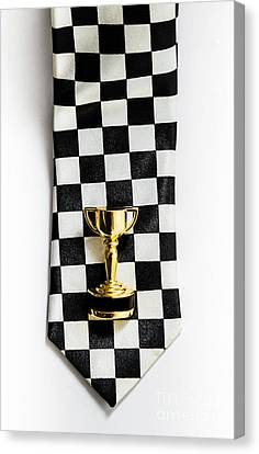 Motor Sport Racing Tie And Trophy Canvas Print